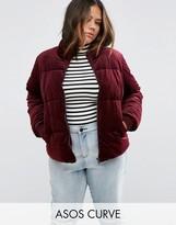 Asos Velvet Puffer Jacket