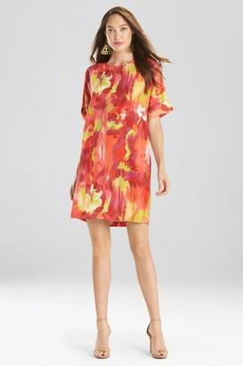 Natori Watercolor T-Shirt Dress