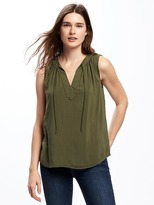 Old Navy Relaxed Tie-Front Tank for Women
