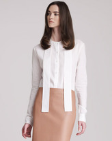 The Row Cotton Blouse With Front Neck Ties