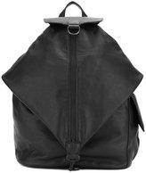 Yohji Yamamoto asymmetric rucksack - women - Leather - One Size
