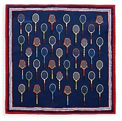 Eton Men's Racket Print Silk-Blend Pocket Square