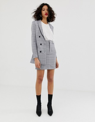InWear Una check tailored two-piece skirt