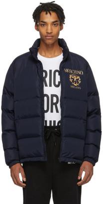 Moschino Blue Logo Puffer Jacket