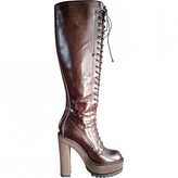 Givenchy Brown Leather Boots