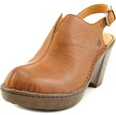 Børn Flowers Women Open Toe Leather Wedge Heel.