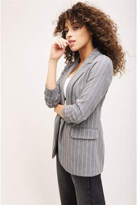 Dynamite Taylor Boyfriend Blazer - FINAL SALE Grey W/ Stripes