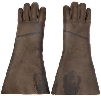 Undercover Brown Shearling A Clockwork Orange Alex Gloves