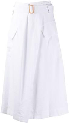 Vince Belted Flap Pockets Skirt