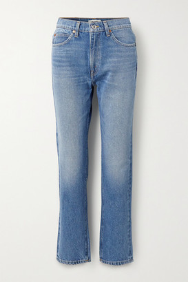 RE/DONE '70s High-rise Straight-leg Jeans - Blue