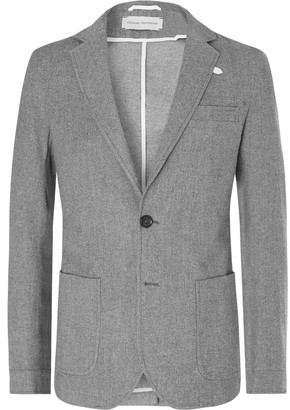 Oliver Spencer Grey Theobald Unstructured Cotton And Wool-Blend Blazer