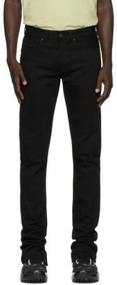 Off-White Off White Black Split Slim-Fit Jeans