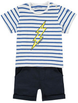 Zadig & Voltaire Clyde Striped Lightning T-Shirt + Shorts