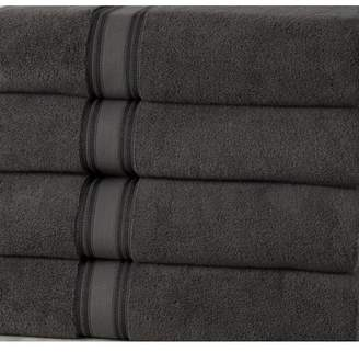 Addy Home Fashions 100% Ultra Soft Cotton and Absorbent Extra Large Bath Towels ; Set of 4 Plush Bath Sheets - GRAY