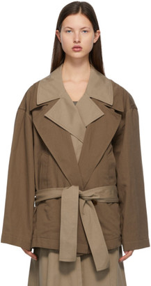Lemaire Brown Trench Blouson Jacket
