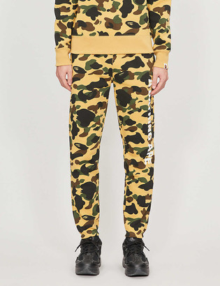 A Bathing Ape 1st Camo tapered cotton-jersey tracksuit bottoms