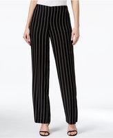 CeCe Pinstripe Wide-Leg Pants