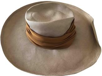 Guy Laroche Beige Wicker Hats