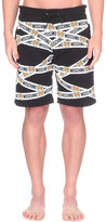 Moschino Teddy Bear Tape-print Cotton-jersey Shorts