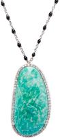 Meira T 14K White Gold, Amazonite & 0.67 Total Ct. Diamond Pendant Necklace