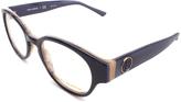 Tory Burch Navy Round Eyeglasses