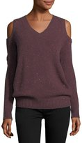 Rebecca Minkoff Page V-Neck Cold-Shoulder Knit Sweater
