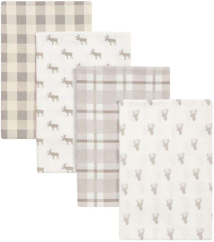 Trend Lab Stag and Moose 4-pk. Flannel Swaddle Blankets
