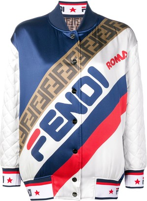 Fendi reversible logo bomber jacket