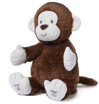 """Gund Baby Animated Clappy Monkey Singing and Clapping Plush Stuffed Animal, Brown, 12"""""""