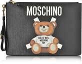 Moschino Teddy Bear Black Eco Leather Clutch