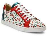 Christian Louboutin Seava Cherry Leather Sneakers