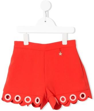 Elisabetta Franchi Kids Eyelet Embellished Shorts