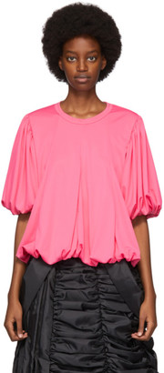 Comme des Garcons Pink Gathered Jersey T-Shirt