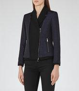Reiss Seren Quilted Zip-Front Jacket