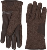 UGG Fabric Smart Gloves w/ Leather Trim