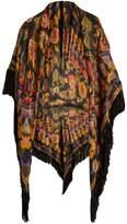 Etro Geometric paisley-jacquard fringed scarf