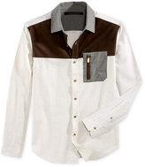 Sean John Men's Colorblocked Melange Shirt