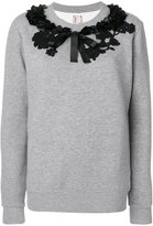 Antonio Marras appliqué flower jumper - women - Cotton/Polyester - S