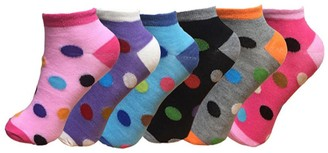 Bm 12pairs Ladies Summer Trainer Liner Socks Womens Gym Sports Yoga Holiday Socks Shoe Size 4-7 (Polka)