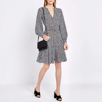 Michael Kors Long-Sleeve Flirt Dress with Belt