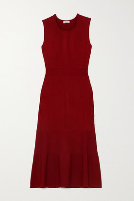 Jason Wu Ribbed-knit Dress - Burgundy