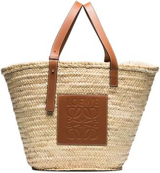 Loewe Large Raffia Basket Bag