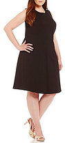 Peter Nygard Plus Luxe Fit-and-Flare Dress