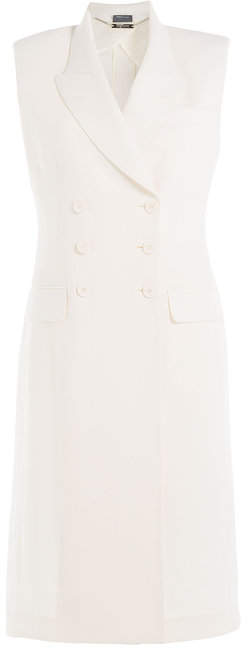 Alexander McQueen Virgin Wool and Silk Blend Sleeveless Coat