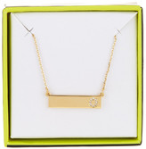 BaubleBar 14K Gold Plated Ice &O& Initial Bar Pendant Necklace