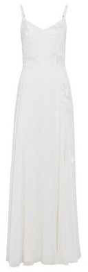 Dorothy Perkins Womens Showcase White Bridal 'Eden' Embroidered Maxi Dress