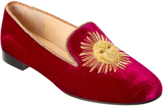 Christian Louboutin Morning Sakouette Velvet Loafer