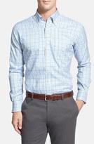 Peter Millar Men's 'Nano-Luxe Tattersall' Regular Fit Sport Shirt