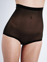 Wolford High-rise tulle control briefs