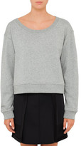 Alexander Wang Soft French Terry Cropped Sweatshirt
